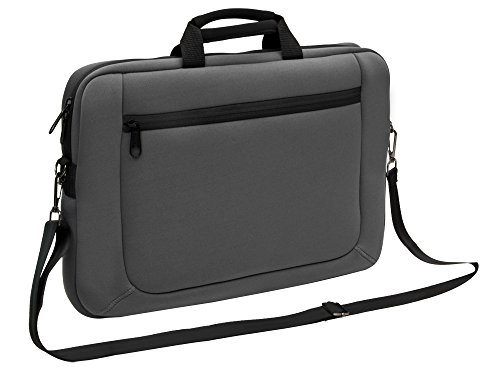 - Sumdex 14.1-Inch NeoArt Neoprene Slim Brief with Detachable Shoulder Strap (NUN-004GY)