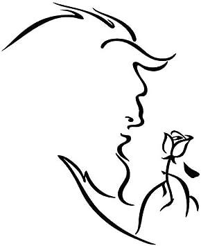 Belleza y la bestia Rosa – Carcasa de vinilo [15 cm negro ...