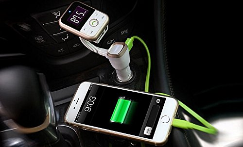 4-in-1 Car Bluetooth speaker, Music Player, FM Transmitter and Charger