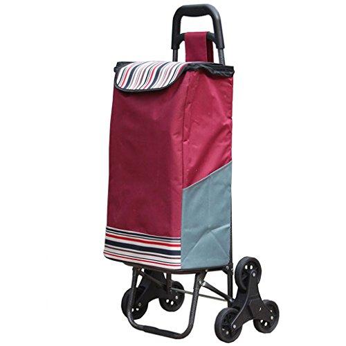 Carro de la compra Escalada Escalera Bolsa de mano Bolsa de tela plegable portátil Carro de equipaje de remolque pequeño...