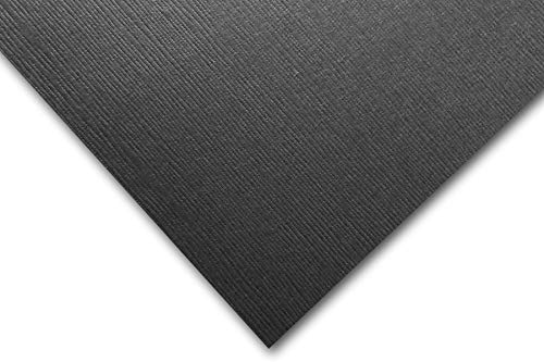 Premium Canvas Textured Beetle Black Card Stock 20 Sheets - Matches Martha Stewart Beetle Black - Great for Scrapbooking, Crafts, DIY Projects, Etc. (8.5 x 11) -