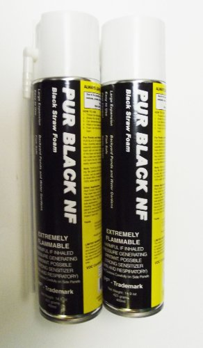Black Pond Foam (2 Cans of Black Foam with Dispenser)