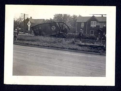 - 1940's PRR Pennsylvania Railroad Train Crash Wreck Coal Car Photo