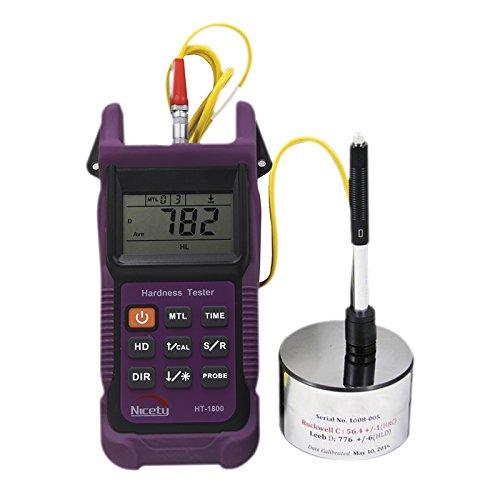 MeterTo Leeb Hardness Tester HT-1800, Memory capacity (100 groups), Standard Test Method for Hardness Testing: ASTM A956 by MeterTo