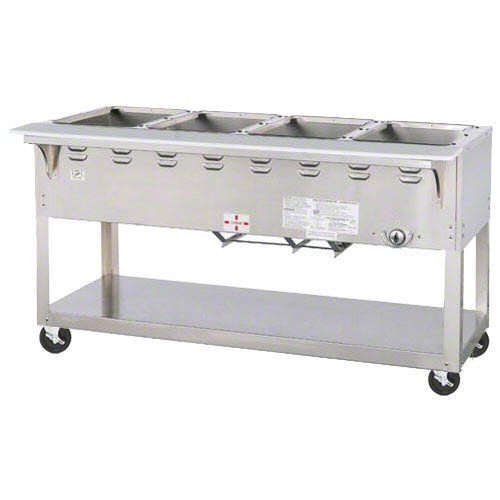 Duke Manufacturing Hot Food Table - Duke Manufacturing EP304 Hot Food Table 4 Well 58 3/8 Length Electric Portable 5 Casters Aerohot Steamtable Series