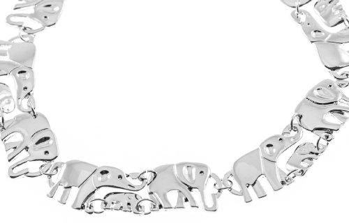 Shagwear Womans Necklace Silver Elephant