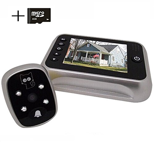 TFT LCD Door Doorbell Peephole Peep Hole Viewer Camera Night Vision 3.5 Inches - 5