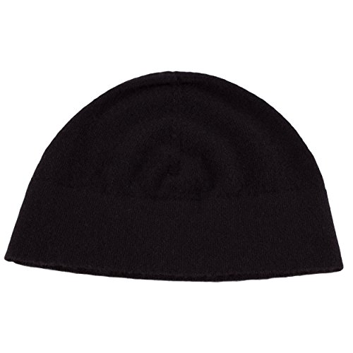Love Cashmere Mens 100% Cashmere Watch Cap Beanie - Black - Made in Scotland by RRP 130