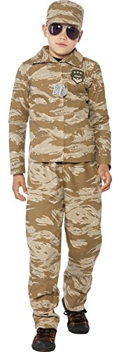 Boys Desert Army Military Camouflage Uniform Fancy Dress