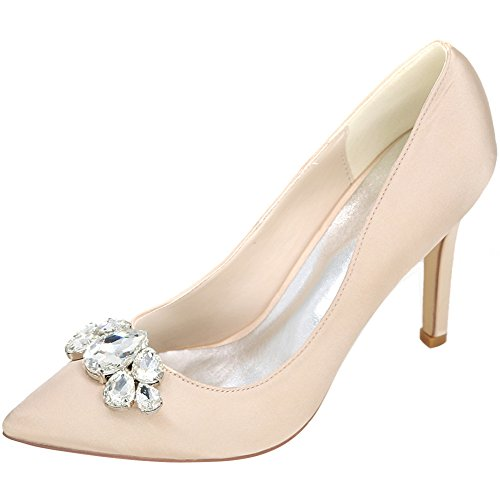 Prom Pompes nbsp;Women's bouche profonde Stiletto Cour Champagne Chaussures High Toe peu Mariage Heels MEI Pointy amp;S UE7x1qz