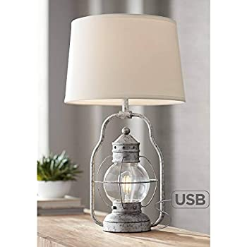 Bodie Rustic Industrial Table Lamp With Usb Charging Port