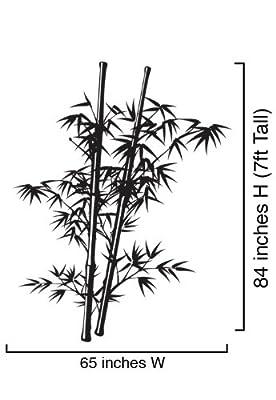 Vinyl Wall Art Decal Sticker Asian Chinese Bamboo Tree 7ft Tall #332