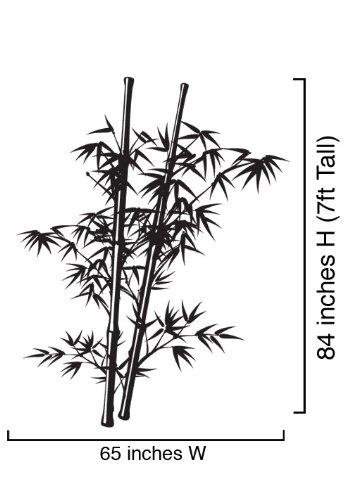 Tall Bamboo Wall - Vinyl Wall Art Decal Sticker Asian Chinese Bamboo Tree 7ft Tall #332