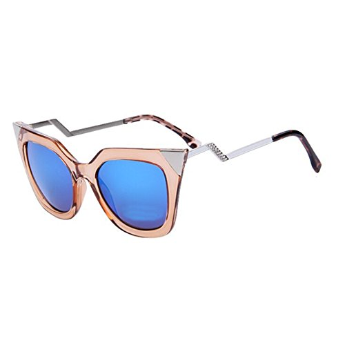 Women Cat Eye Bending Temple Sunglasses Women Sun Glasses Rhinestone Decoration - Hur Glasses Sun