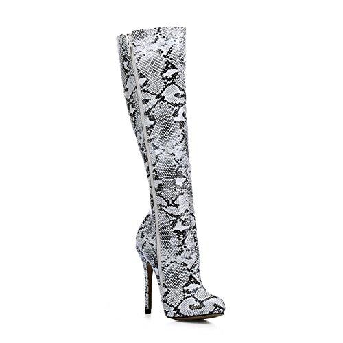 la haute et amorce chaussures la la démarrer serpent mesdames haut Black girl talon fashion de de peau Goût le 7xHw6q