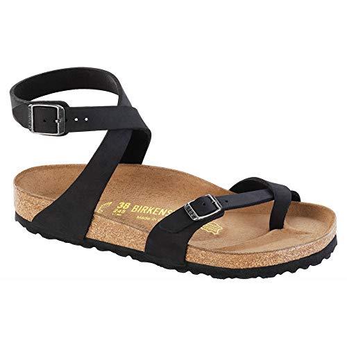 Birkenstock New Women's Yara Sandal Black Olied 36 R