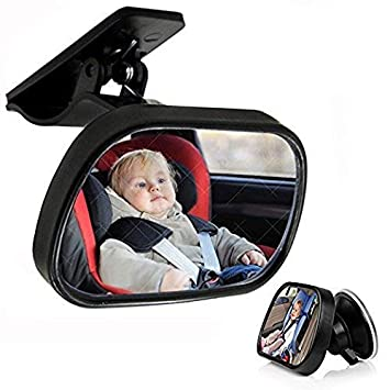 Powstro Rear View Baby Mirror Back Seat Car Facing