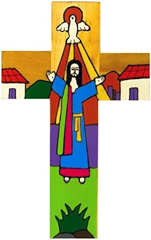 15cms. Cruz de madera pintada a mano cruz de América Latina. Cristo resucitado Cruz. De St Joseph de Catholic giftshop en Amazon
