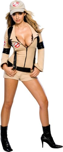 [Secret Wishes Women's Sexy Ghostbuster Costume, Tan, M (6/8)] (Ghostbusters Womens Costume)