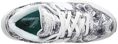 W530 white Femme New Bottes Print Classiques Blanc Balance gqnSwU