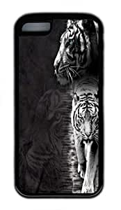 Lmf DIY phone caseiphone 5c Case,White Tiger Stripe Custom TPU Soft Case Cover Protector for iphone 5c BlackLmf DIY phone case