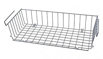 magasin en ligne 419d0 e106f Armoire corbeille à suspendre - 56 x 25 - Métal - Gris ...