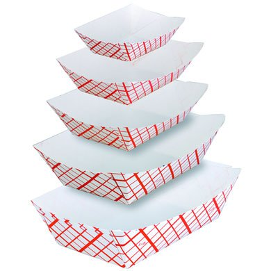 SQP 3# Red Plaid Food Boat 500/CS