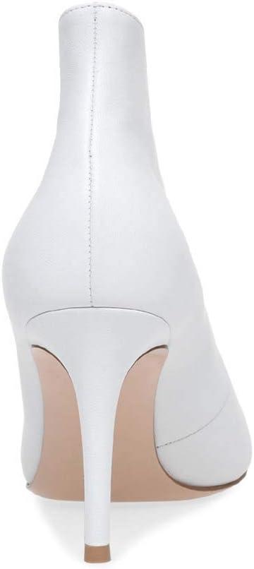Gasgff Super-Tacco Alto Stivaletti A Punta delle Donne più Scarpe da Donna Taglia White
