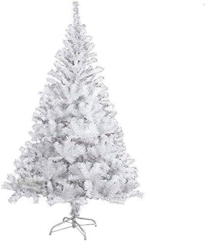 BAFYLIN Albero di Natale Artificiale Xmas Albero Natale PVC Ignifugo per Casa Parco Festa Negozio (Bianco, 180CM)