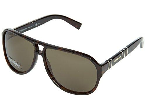 Yves Saint Laurent Men's 2288 Dark Tortoise Frame/Brown Lens Plastic - Mens Laurent Sunglasses Saint Yves