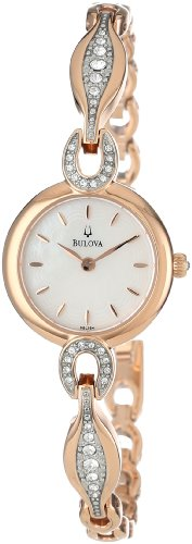 Bulova Womens Bangle (Bulova Women's 98L164 Crystal Bangle Watch)