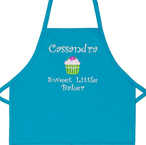 Personalized Girls Sweet Little Baker Child Apron with Cupcake Add a Name Embroidered (Regular 20