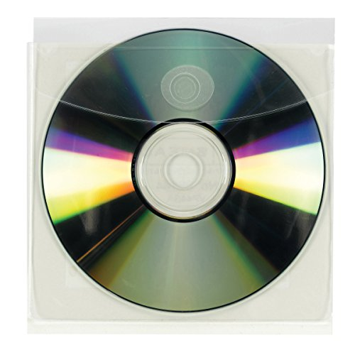 Self Adhesive Disk - Smead Self-Adhesive Poly CD/DVD Pocket, Security Flap, 5