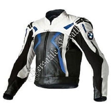 Amazon.es: BMW - chaqueta con rayas en los hombros, de piel ...