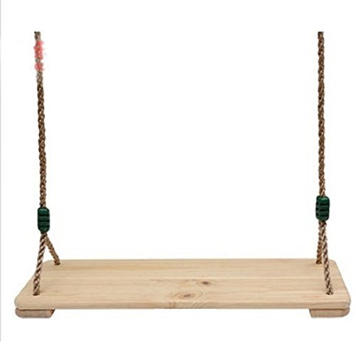 Swing-N-Play Wooden Swing with 78' Rope