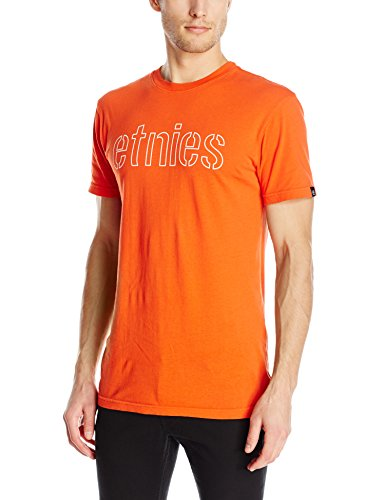 Etnies Men's Corporate Outline T-Shirt, Orange, Large