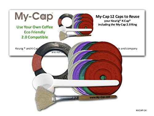 (My-Cap - 12 Caps (including the My-Cap 2.0 Ring) to Reuse Your Keurig K-Cup (12))