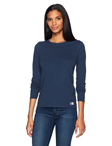 (Russell Athletic Women's Essential Long Sleeve Tee, Navy, XS)