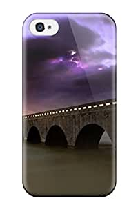 Mary P. Sanders's Shop 4834143K55389864 Case Cover Bridge Over Calm Waters/ Fashionable Case For Iphone 4/4s