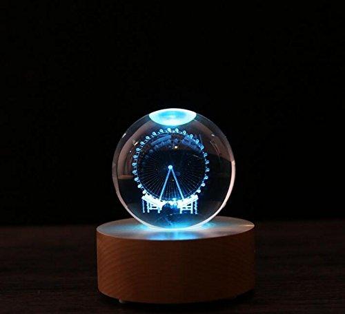 Baby-lustiges Spielzeug 10m Fernbedienung Blautooth Spieluhr mit LED leuchten Kristallkugel (Riesenrad Muster)