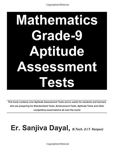 Mathematics Grade-9 Aptitude Assessment Tests PDF
