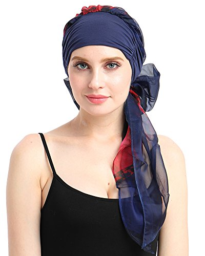 - Chemo Scarf Easy Tie Bamboo Jersey Turban Hat for Cancer Women Patients-Best Medical Gifts