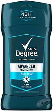 Degree Men Original Protection Antiperspirant Deodorant, Cool Rush, 2.7 oz (Pack of 6) - Packaging May Vary