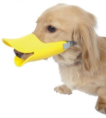 Pawliss Anti-bite Dog Muzzle, Duck Shape Mouth Cover]()