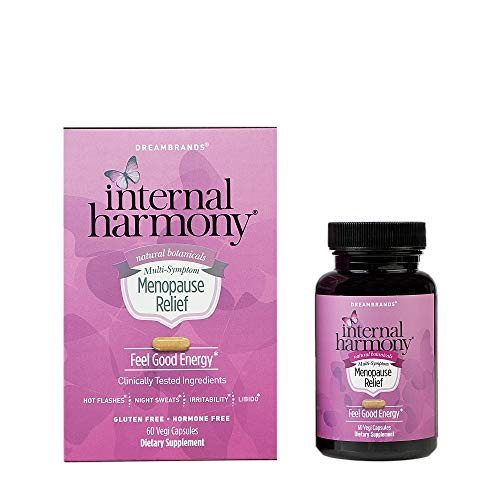 Internal Harmony Menopause Relief for Women with geniVida, KSM-66 Ashwagandha, DIM, Dong Quai, Black Cohosh and Natural Herbals - Hot Flash Relief, Reduce Stress, Hormonal Balance, Calming and Energy