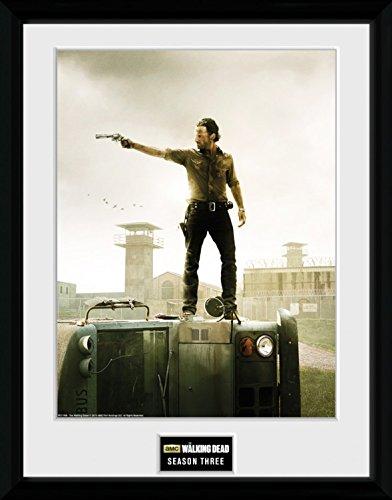 1art1 100336 The Walking Dead - Season 3 Gerahmtes Poster Für Fans Und Sammler 40 x 30 cm