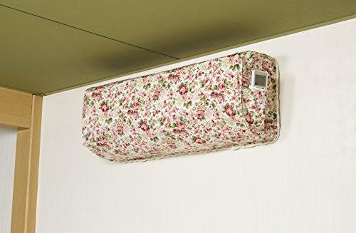 日本製 洗える エアコンカバー 室内用 (リモコンポケット付き) 森の果実柄