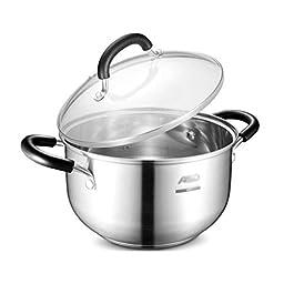 Rvvk Milk Pot 22cm Complex Bottom 304 Stainless Steel Soup Pot Gas Cooker Universal