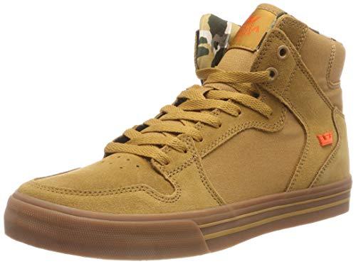Supra 08044 Men's Vaider Sneaker, Tan - Lt Gum - 10.5 M US ()