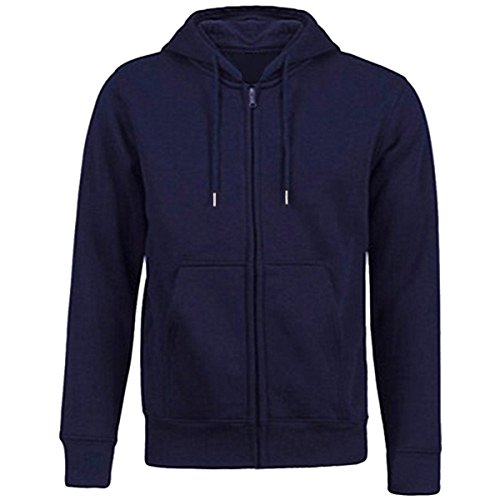 Samtree Women's Drawtring Hoodie Zip Up Sweatshirt Sport Fleece Jacket(L(10-12),Navy Blue) Cotton Blend Fleece Jacket